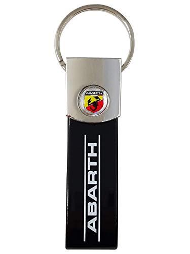 Abarth 21757 Key Chain, Negro, Universal