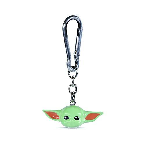 Disney Boys' RKR39166 Star Wars-The Mandalorian The Child 3D Keychain, Green, One Size