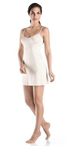 HANRO Damen Bodydress Satin Deluxe (0102 off white), Gr. L