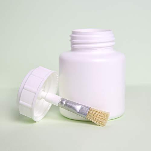 WBH praktische penseeldoos voor het eenvoudig aanbrengen van vloeistoffen zoals verf, lak, lijm, smeermiddel (wit)