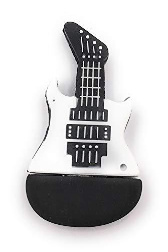 Onlineworld2013 - Guitarra eléctrica (con memoria USB, varios tamaños), color blanco y...