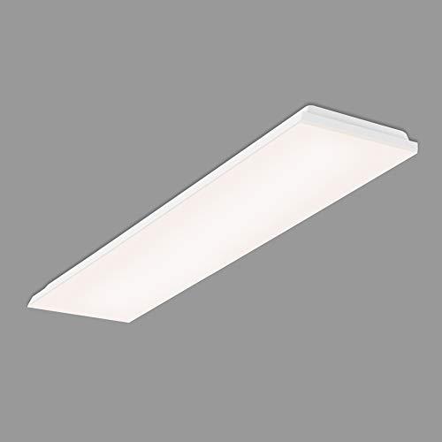 Briloner Leuchten Panel LED, lámpara de techo LED, luz de techo sin marcos, 38 vatios, 3.800 lúmenes, 4.000 Kelvin, blanco, 1195 x 295 x 76 mm (Lar x An x Al) (7376-316)