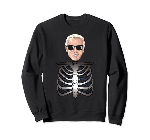 Joe Biden Disfraz de esqueleto Presidente Biden Disfraz de Halloween Sudadera