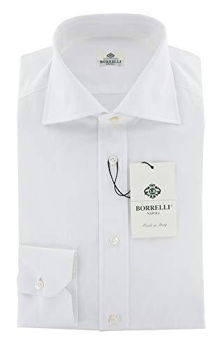 Luigi Borrelli ストライプ ボタンダウン コットン スリムフィット ドレスシャツ US サイズ: 17 カラー: ホ...