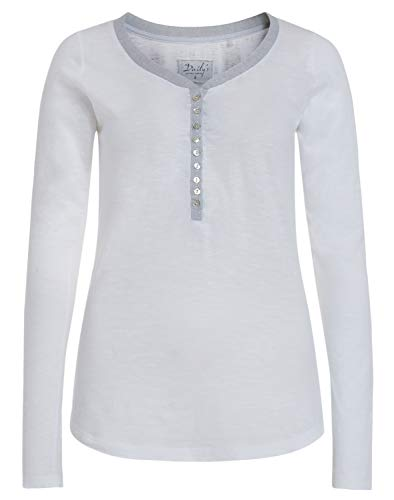 DAILY`S NOTHING`S BETTER BY S. W. B. Genna: Damen Longsleeve mit Rundhalsausschnitt, Color:White, Size:XL