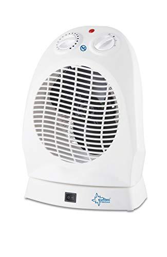 SUNTEC Heizlüfter AirBooster 2000 OSC | Heizung Ventilator Elektrisch 2000 Watt | 3 Stufen, Leise | Energiesparend | Heizer für Tisch, Schreibtisch, Büro zum heizen der Wohnung