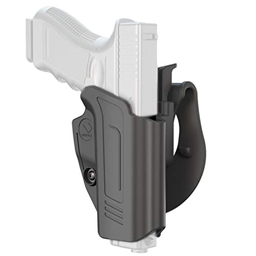 ORPAZ Defense Retention Tactical Thumb Release Safety Holster Tention Adjustment Rotating Paddle for Walther PPQ & m2 in 9mm / .40, Q5 Match, 5''
