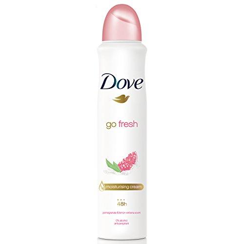 Dove Go Fresh Limited Edition Pomegranate & Lemon Verbena with ¼ moisturising cream Anti-perspirant Aerosol deodorant with a long-lasting, fresh fragrance 250 ml