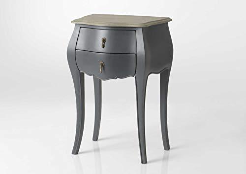 Adept Home 133192 Table TEL 2T Murano Celeste, Multicolore, Unique