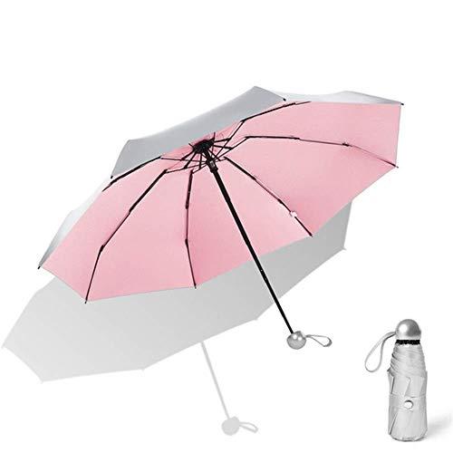Paraguas de titanio plateado para hombres y mujeres, 8 costi