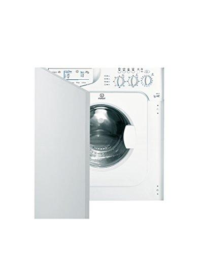 Indesit IWDE 127 (EU) machine à laver avec sèche linge Charge avant Intégré Blanc - Machines à laver avec sèche linge (Charge avant, Intégré, Blanc, Gauche, Rotatif, Acier inoxydable)