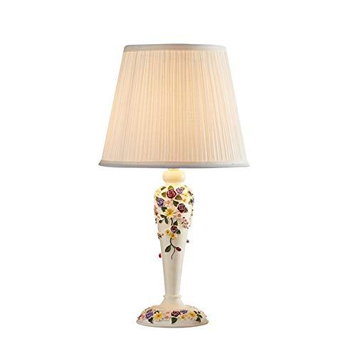 Zhuowei Leselampe Moderne Kreative Romantisches Minimalist Stoff Nachttischleuchte,Tischlampe Für Schlafzimmer Wohnzimmer Stimmungslicht Bedside Table,Weiß,style1