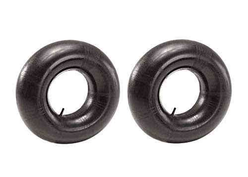 15x6.00-6 Inner Tube (2 Pack) - Heavy Duty Industrial Strength 15x6x6 Replacement Tube with Straight Valve for 16x6 Pneumatic Lawn Mower, Tractor Tires, Go Kart, Golf Cart, Garden Utility Vehicles