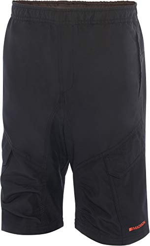 Madison Trail Youth Padded Cycling Shorts - Black, Age 11-12 / Bicycle Cycle Ride Mountain Bike MTB Biking Boy Girl Junior Children Child Kid Unisex Riding Wear Trouser Pant Pad Comfort Clothes
