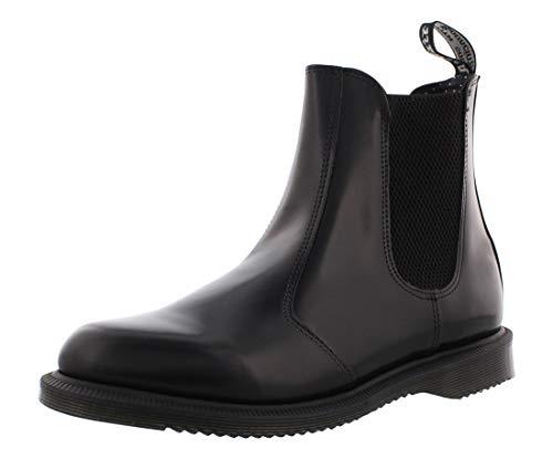 Dr. Martens Women's Leather Flora Chelsea Boot, Black, 7