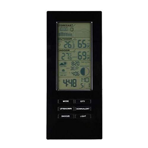 Écran Couleur Station météo Baromètre sans Fil Int. / Extérieur Prévisions météorologiques Thermomètre Hygromètre Compteur Réveils Météo Surveillance Horloges