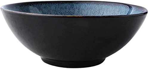 Cesta para tazón de frutas y verduras, vajilla de cerámica cerami de estilo japonés, plato para carne, ensalada de frutas, bandeja para postres, tazón para sopa de fideos, comida y bebida, 19x7 cm,