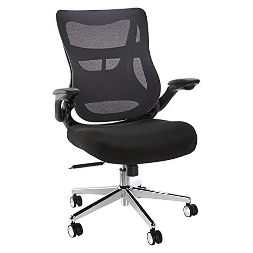 AmazonCommercial Ergonomic Infinite Adjustable High-Back Mesh Chair - Advanced Lumbar Technology, Black