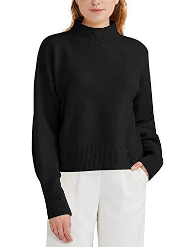 Woolen Bloom Jersey Punto Mujer Suéter Basico Cuello Redondo Jerseys Grueso Camiseta Manga Larga Sueter Mujer Suelto Camisa Casual Sudadera Rebeca Estilo de Corto Invierno
