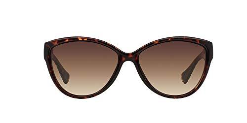 Ralph Damen RA 5176 Essential Ralph Plaque Cateye Sonnenbrille, 50213, Tortoise, Brown Smoky Grad
