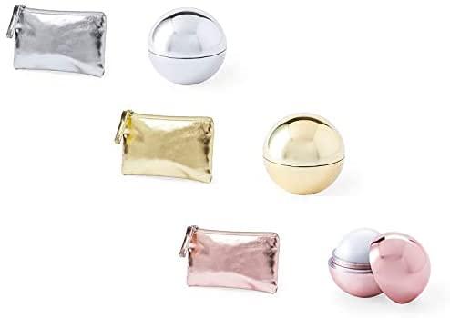 30 Monederos Metalizados + 30 Bálsamos labiales, surtido en colores. Lip gloss boda. detalles originales boda, monederos colour.