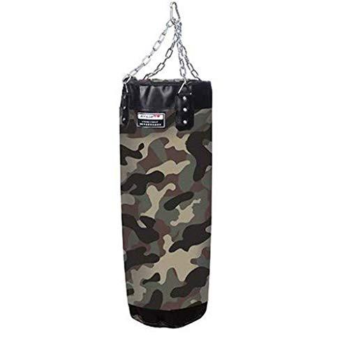 LWXTY Schwere boxsack, Trainings-Tasche mit Ketten für Jugendliche, Hohlselbst Filling Camouflage Stoff, für Druck entlasten/MMA-Trainingsgeräte Heim,ArmyGreen