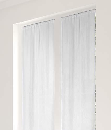Linder - Vetro 100% Poliestere, 45 x 180 cm, Colore: Bianco