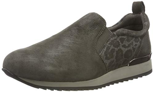 CAPRICE Damen Ginga Slip On Sneaker, Grau (Grey Leo Comb 294), 42 EU