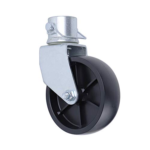 NBJINGYI 6' Trailer Swirl Jack Caster Wheel 1200lbs Capacity with Pin Base for Boat Hitch Camper Removable