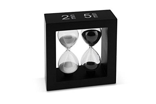 Tea-Timer Teatimer Sanduhr 2/5 Minuten schwarz