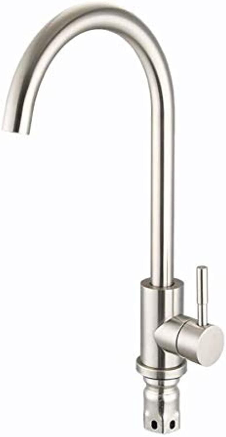 Kitchen Sink Faucet Hot and Cold Faucet Stainless Steel Kitchen Hot and Cold Water Faucet redating
