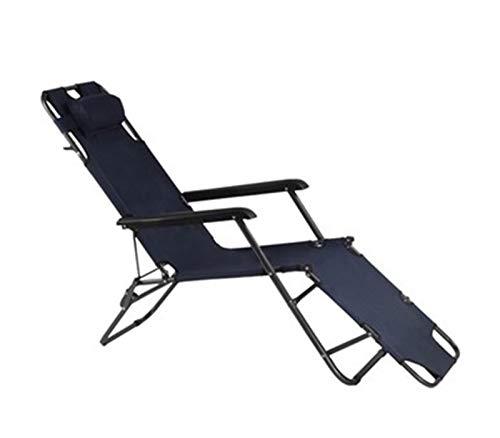 STARAYS Cero Gravedad Silla Plegable, Ajustable Multifuncional Silla de jardín decoración del hogar de Vacaciones en la Playa portátil de Viaje,Armada