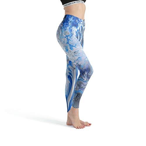 shenminqi Marble Texture- Leggings cómodos para mujer, control de barriga, pantalones de yoga, lindos capris para gimnasio