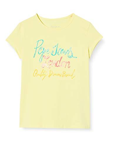Pepe Jeans Farrah Camiseta, Amarillo (Sorbet Lemon 014), 12-
