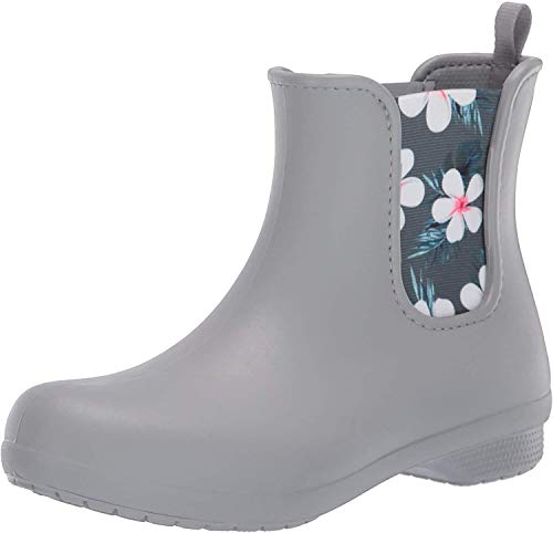 Crocs Freesail Chelsea Boot, Stivali Donna, Grigio (Tropical Floral/Light Grey 95y), 37/38 EU