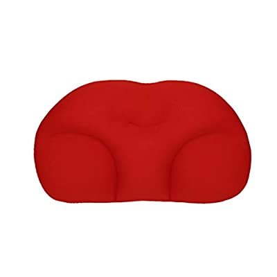 Fine Orthopedic Memory Foam Lumbar Support Back Cushion for Office Chair and Car Seat, Designed to Reduce Back Pain and Discomfort While Improving Posture (A)