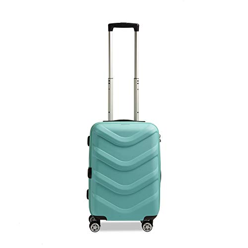 STRATIC Arrow 2 Hard Shell Suitcase Trolley Travel Suitcase Trolley Suitcase 4 Wheels TSA Combination Lock Cup Holder Small Turquoise