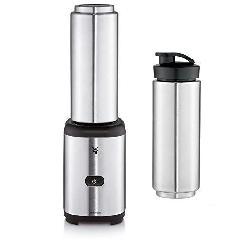 WMF Kult X Mix & Go Keep Cool Mini Smoothie Maker mit 1 Mixbehälter, Shake Mixer, Blender elektrisch, 300 Watt, Thermoflasche 600ml, Kühlfunktion, edelstahl matt