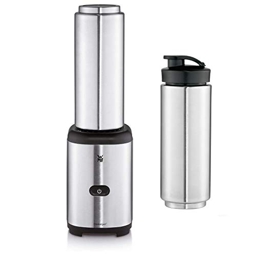 WMF KULT X Mix und Go Keep Cool Smoothie Mini Mixer (300 W, 0,6 l, Thermo Mixbehälter), metallic