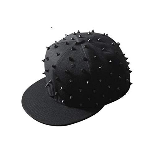 DLSM verstellbare Punk Igel Hut Persönlichkeit Jazz Snapback Spike Nieten Spike Baseball Cap für Hip Hop Rock Dancehat besetzt-3