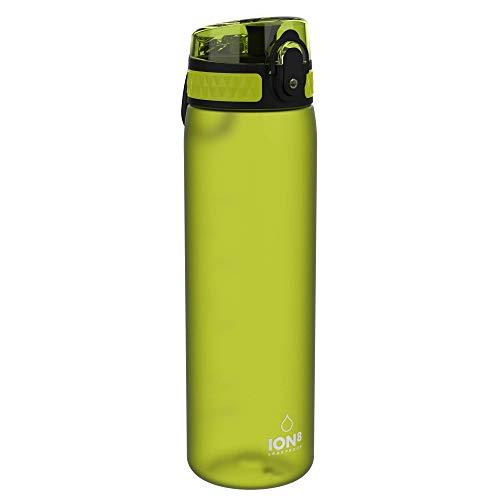 Ion8 Botella Agua Sin Fugas, Sin BPA, 600ml, Verde
