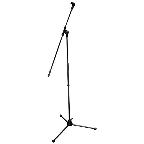 powerful The Pyle Folding Tripod Microphone Stand is a 37.5 inch high universal microphone holder.