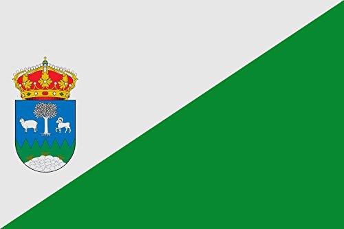magFlags Bandera Large Municipio de Olula de Castro Almería - España Según la descripción Paño de Proporciones 3 2 Largo por Ancho Dividido diagonalmente Mediante