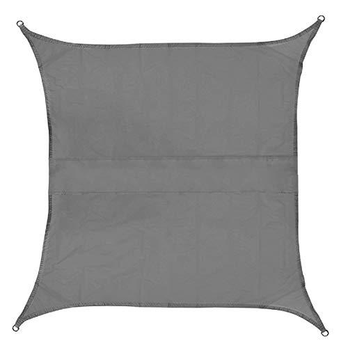 Jtoony Toldo impermeable para exteriores de 420D Oxford (tamaño: 2 x 2 m; color: gris)