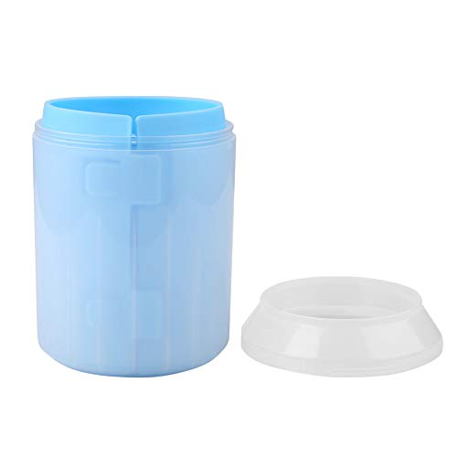 Oumefar Taza limpiadora Taza limpiadora para Mascotas Taza extraíble para Limpieza de Patas de Perro Gato Taza de Limpieza para Perros Herramienta de Limpieza para Patas de Mascotas(Blue)