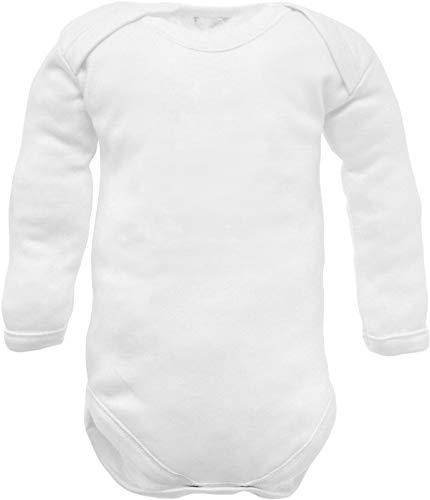 body neonato caldo cotone manica lunga traspirante e anallergico - made in italy - maschio femmina scollo americano - made in italy (caldo cotone manica lunga, 6-9 mesi)