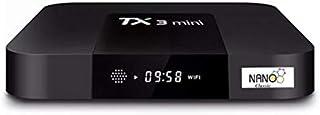 نانو كلاسيك TX3 ميني 2 جيجا/16 جيجا اندرويد 8.1 واي فاي مزدوج 2.4 جيجاهرتز/5 جيجاهرتز صندوق تلفزيون اندرويد فل اتش دي 4 كي...