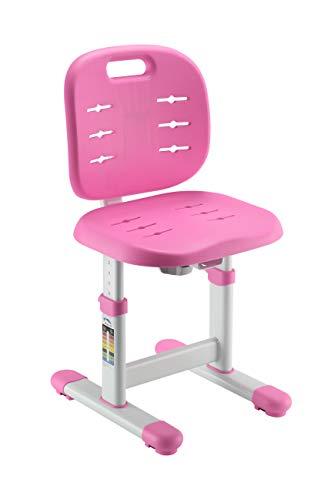 FD FUN DESK SST2 Pink in hoogte verstelbare bureaustoel, stoel voor kinderen, roze, 380x360x612~732 mm