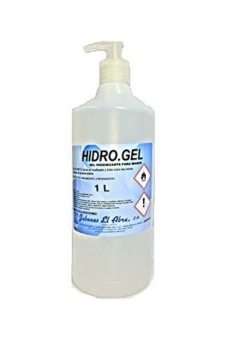 Hidro-Gel. Gel Hidroalcohólico higienizante para manos. Sanitizante. Contiene alcohol y tensioactivos. En dosificador de 1 litro o garrafa de 5 Litros. (1 Litro con dosificador)