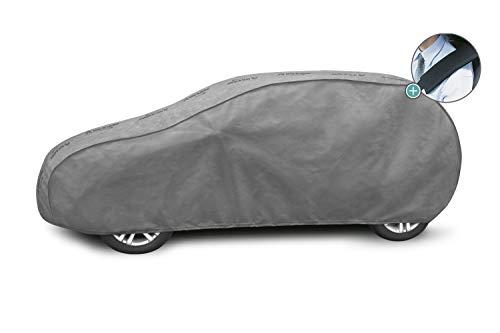 Autoplane MG L1 Vollgarage geeignet für VW Polo VI ab 2017 atmungsaktiv Schutzplane Autoabdeckplane - obere Membrane wasserdicht + Gurtschoner